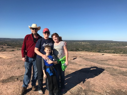 At the summit of Enchanted Rock