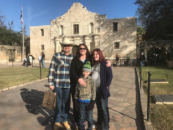 We visited the Alamo