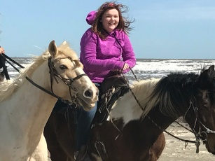 Surprised her with a horseback ride on the beach!