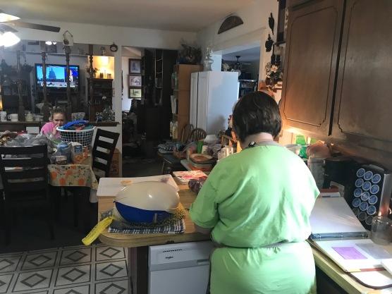 I love preparing food with my Mom!