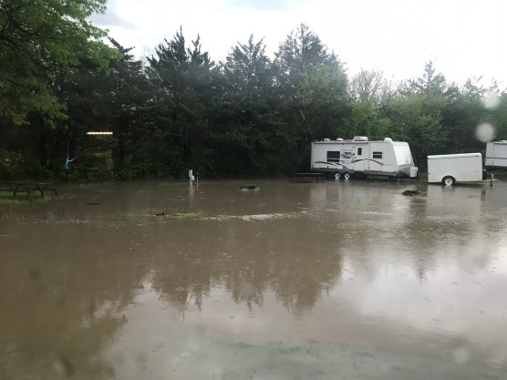 This was the flooded site we pulled out of.